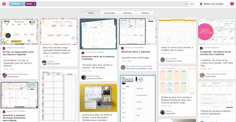 Populaire Être organisé(e): Les menus de la semaine – Make my Utopia – Blog  GT16