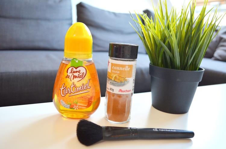 Masque miel cannelle