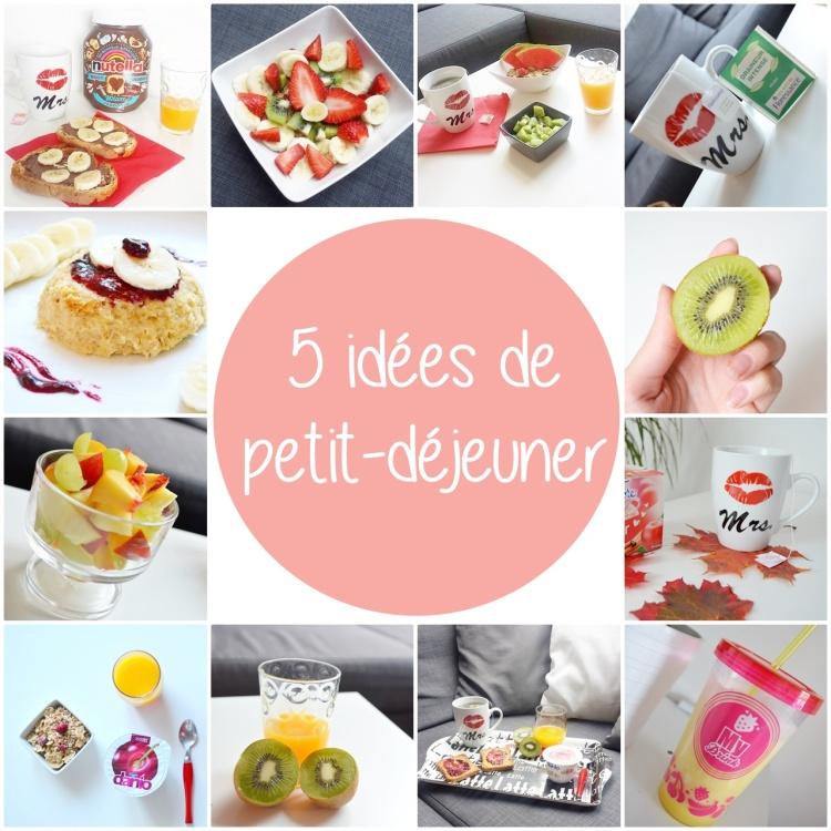5 idées de petit déjeuner