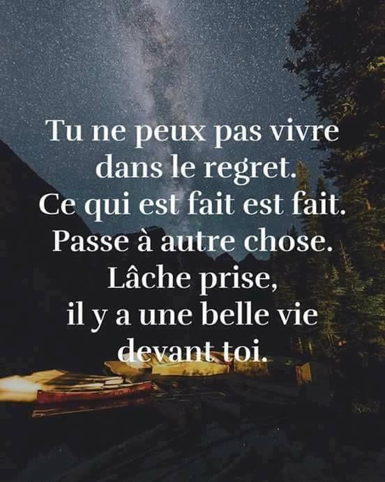 pas vivre dans le regret