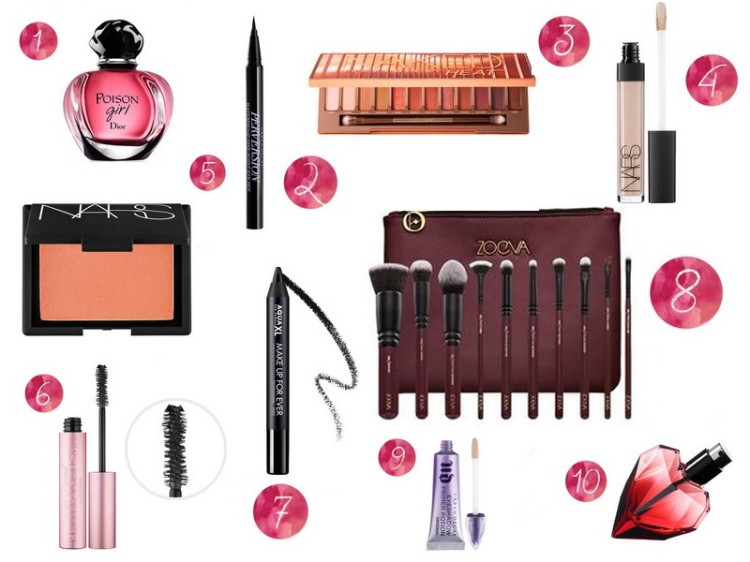 wishlist noël make up
