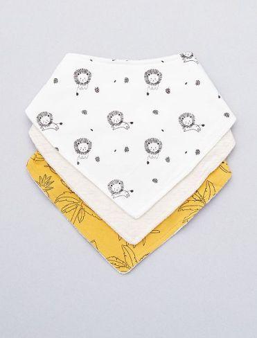 lot-de-3-bavoirs-bandana-lions-blancjaune-bebe-garcon-wp319_1_frf1