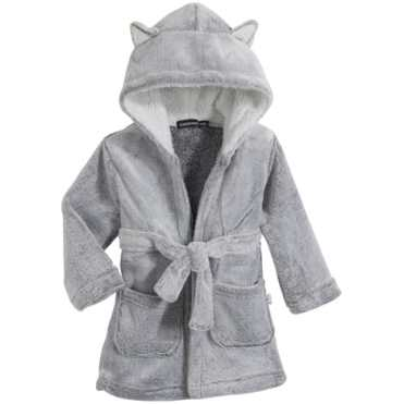 Peignoir chat gris