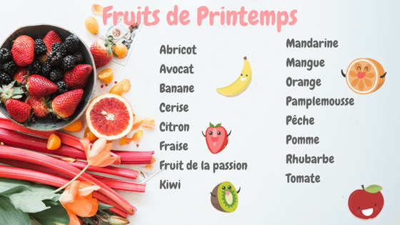 fruits printemps