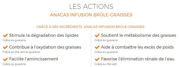 #ANACA3 action infusion brule graisse