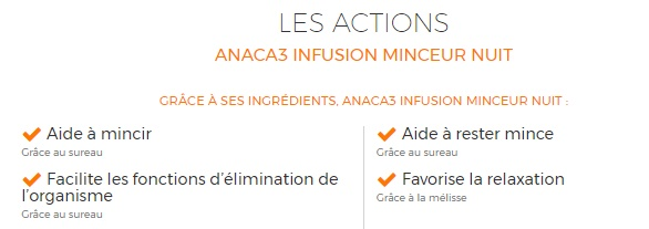 #ANACA3 actions infusions nuit