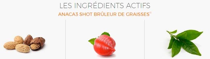 #ANACA3 ingrédients shot
