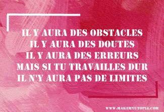 Citations - Motivation - obstacles doutes erreurs limites - www.makemyutopia.com