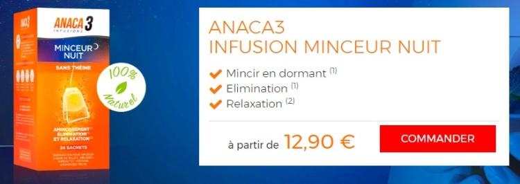 #TESTPRODUIT - Anaca 3 - Infusion nuit minceur