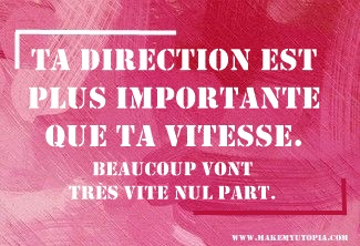 Citations - Motivation DIRECTION VITESSE - www.makemyutopia.com