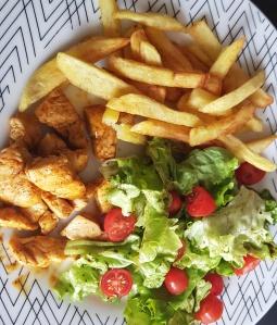 Poulet frites