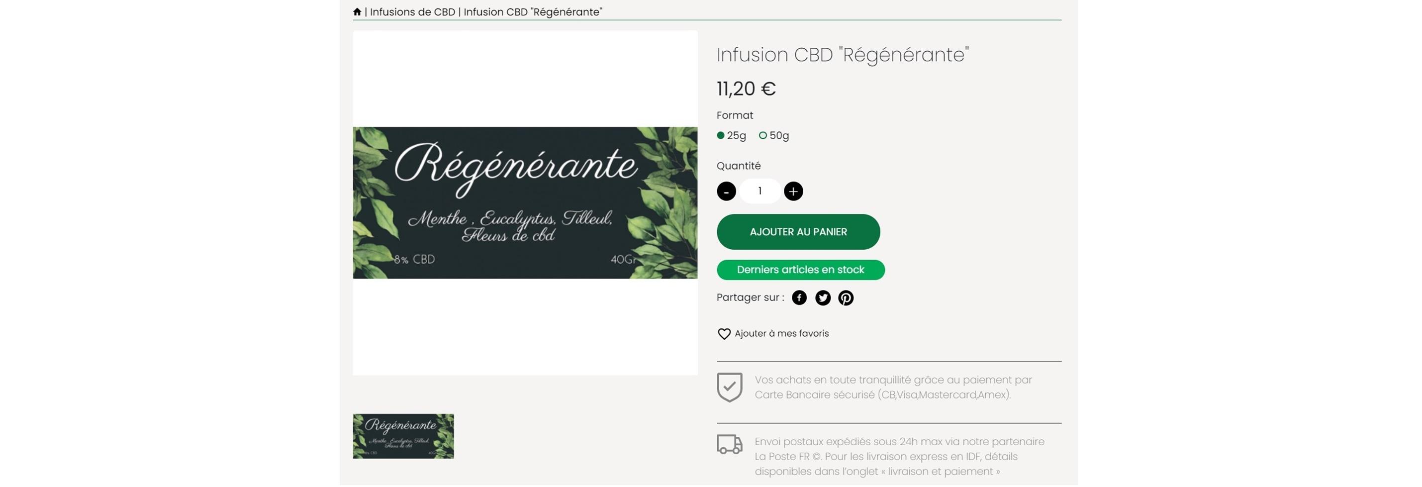 cbd infusion regénérante