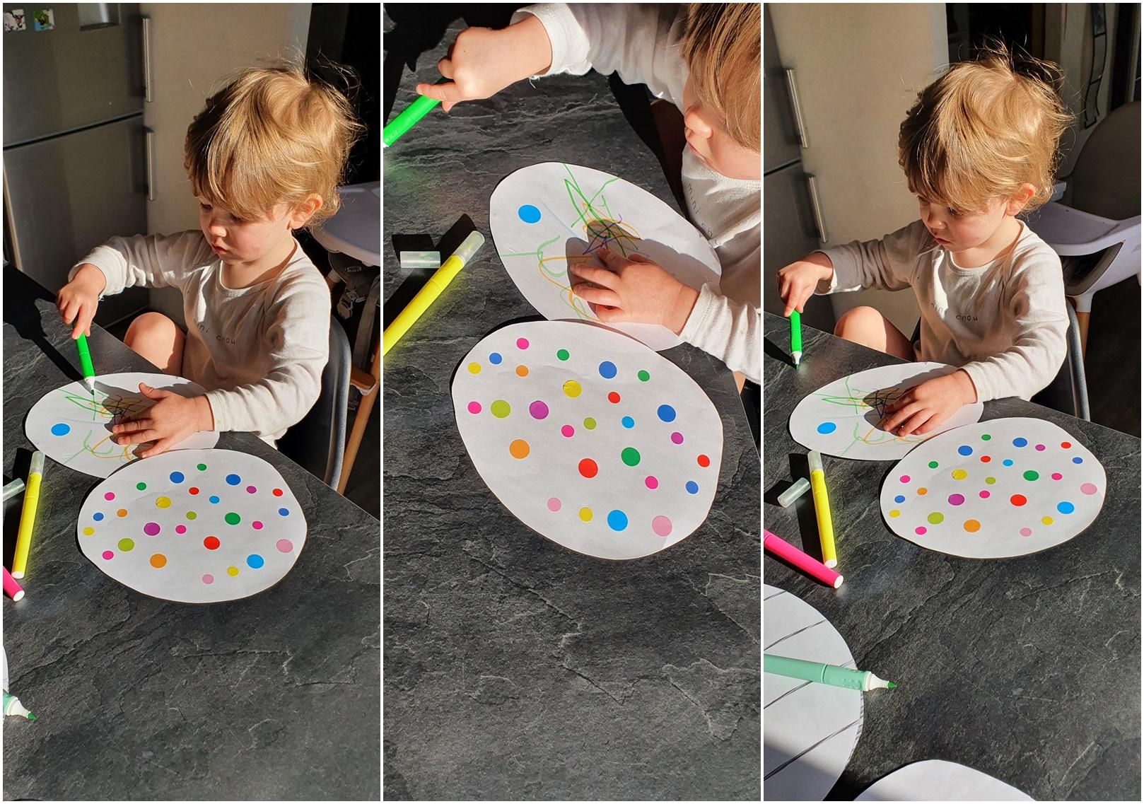 décoration oeufs de paques enfant